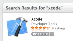 Searching for Xcode in the App Store